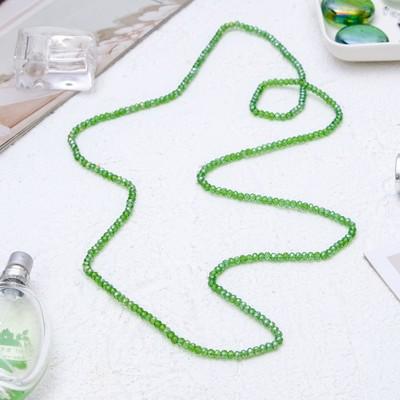 """Бусы """"Хрусталь"""" кукуруза, на резинке, цвет зеленый, 100см"""