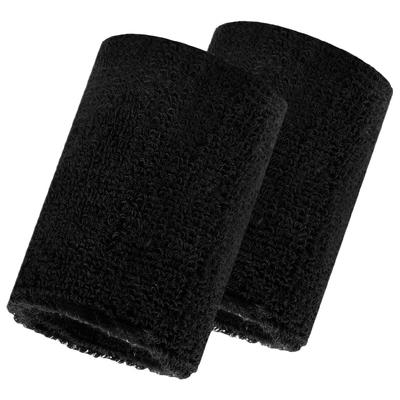 Набор для фитнеса, 2 напульсника, повязка на голову, цвет чёрный