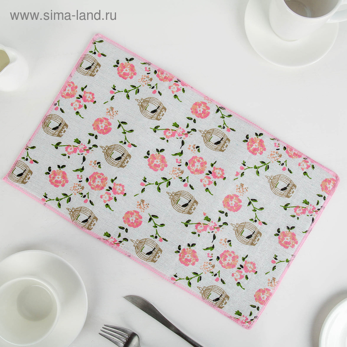 """Mat for drying dishes 25х40 see """"the caged Bird"""", len"""