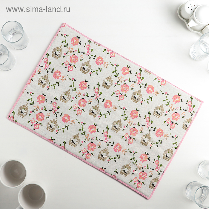 """Mat for drying dishes 34х50 see """"the caged Bird"""", len"""