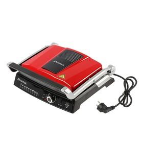 """Гриль электрический """"АКСИНЬЯ"""" КС-5210, 2200 Вт, антипригарное покрытие, 3 режима, красный"""
