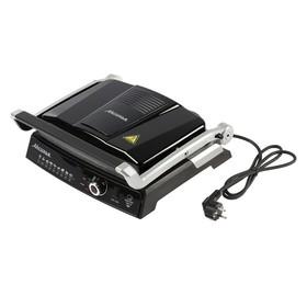 """Гриль электрический """"АКСИНЬЯ"""" КС-5210, 2200 Вт, антипригарное покрытие, 3 режима, чёрный"""