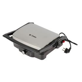 Гриль электрический DELTA DL-045, 2000 Вт, антипригарное покрытие, 30х23.5 см