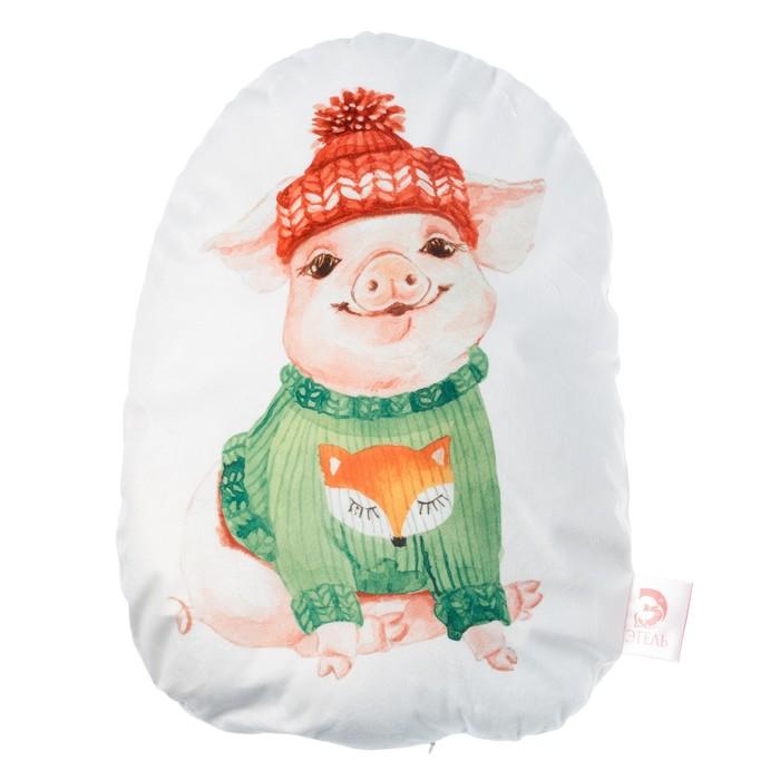 """Подушка """"Этель"""" Свин 36х50 см, велюр, 100% п/э"""