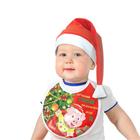 """Набор новогодний """"Поросенок подарочек"""",колпак  слюнявчик"""", велюр, 1-3года"""