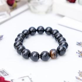 "Bracelet ball No. 12 ""black agate"""