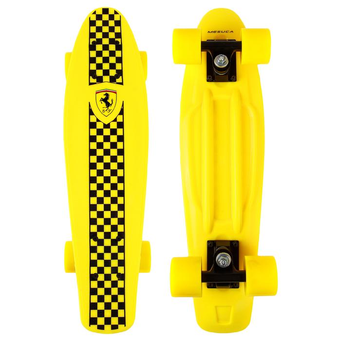 Пенни борд FERRARI, 56,5х14,5 см, FBP4, колёса PU, ABEC 5, цвет жёлтый