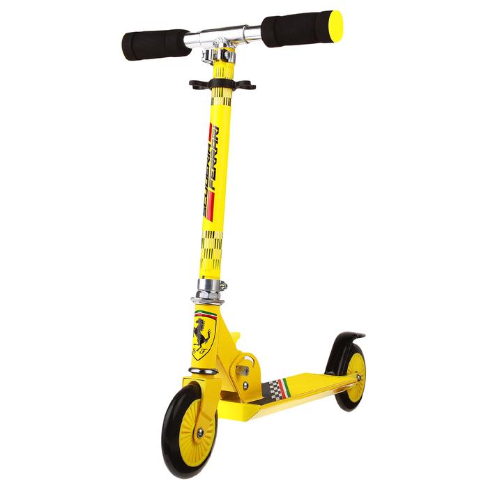 Самокат стальной FERRARI FXK30, колёса PVC 120 мм, ABEC 5, цвет жёлтый
