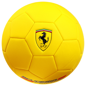 Мяч футбольный FERRARI, размер 5, PVC, цвет жёлтый