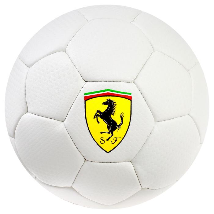 Мяч футбольный FERRARI, размер 2, PU, цвет белый