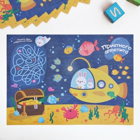 """Набор бумажных салфеток """"Подводный мирt"""", 10 шт., 35 х 25 см"""