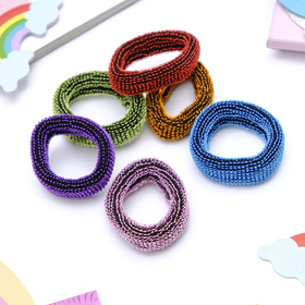 "Elastic band for hair ""Marushka"" 4 cm glitter (set of 36 PCs) colorful"
