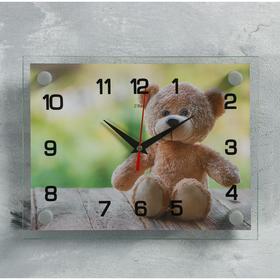 """Часы настенные, серия: Животный мир, """"Мишка"""", 20х26 см  микс в Донецке"""