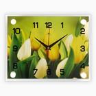 """Часы настенные, серия: Цветы, """"Тюльпаны"""", 20х26 см  микс"""