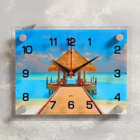 """Часы настенные, серия: Море, """"Пляж"""", 20х26 см, микс в Донецке"""