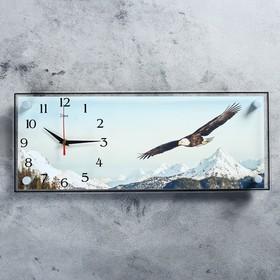 """Часы настенные, серия: Животный мир, """"Орёл"""", 50х20 см"""