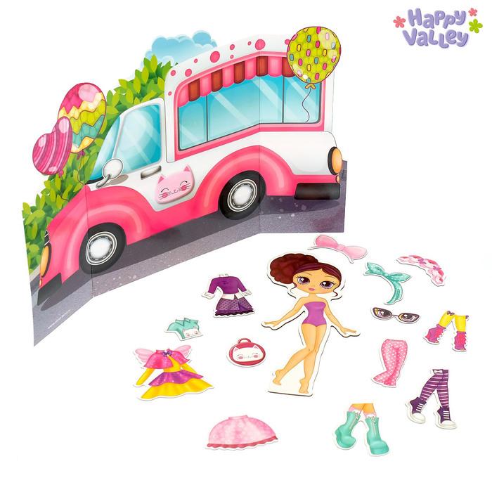 Магнитный набор с куклой, фоном и наклейками «Милашка Сью» - фото 105608856