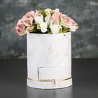 Коробка круглая для цветов 17 х 17 х 20 см