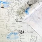 Бумага упаковочная крафтовая «Карта», 70 × 100 см