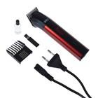 Машинка для стрижки Sinbo SHC 4372, 3 Вт, АКБ, 1 насадка, черно-красная
