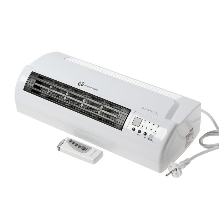 Тепловентилятор SUPRA WHS-2120 white, керамический, настенный, 2000 Вт, ПДУ, белый