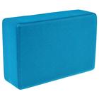 Блок для йоги 31х15х8 см, цвет синий