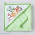 Набор для купания «Репка», пелёнка 90 × 90 см, рукавичка, салатовый