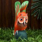 """Сувенир дерево """"Оранжевая сова"""" 9,5х10х30 см"""