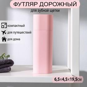 Футляр для зубной щётки и пасты, 19,5 см, цвет МИКС Ош