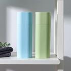 Футляр для зубной щётки и пасты, 19,5 см, цвет МИКС - фото 4639063