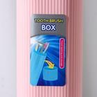 Футляр для зубной щётки и пасты, 19,5 см, цвет МИКС - фото 4639064