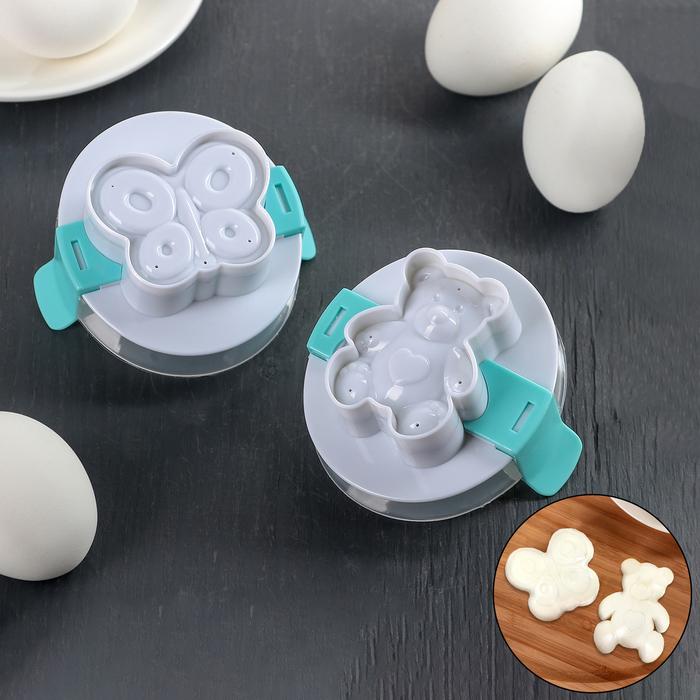"""Пресс-форма для яйца """"Мишка, бабочка"""""""