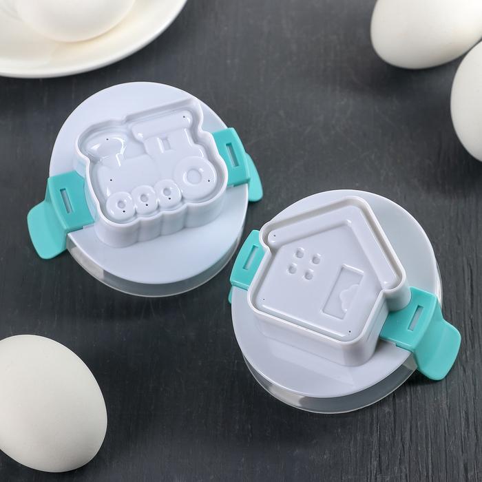 """Пресс-форма для яйца """"Домик, паровоз"""""""