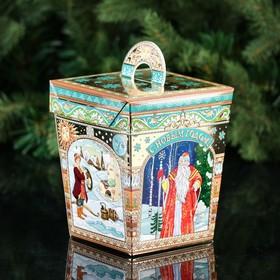 """A cardboard box """"Russian fairy tales"""", 10 x 10 x 12 cm"""