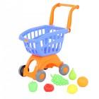 Тележка для супермаркета «Мини» с набором продуктов, 6 предметов