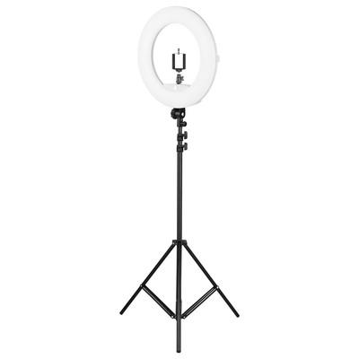 Кольцевая лампа OKIRA FD 480, 86 Вт, 480 светодиодов, d=46 см, черная