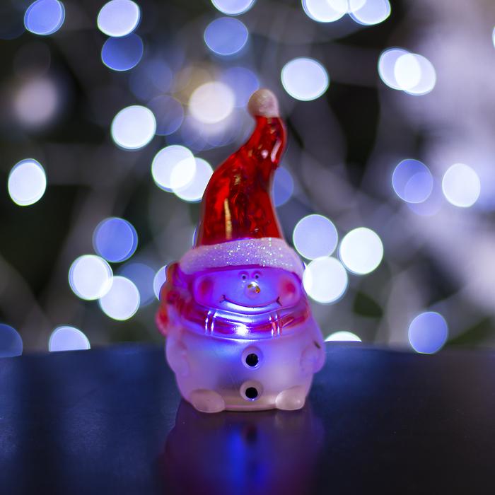 "Игрушка световая ""Гномик-снеговик"" (батарейки в комплекте) 1 LED, RGB"