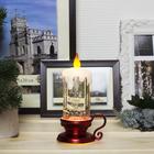 """Фигура световая """"Свеча красная"""", 15х7х7 см, от батареек 3*AG13, пламя моргает, RGB"""
