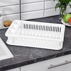 Сушилка для посуды, цвет белый - фото 308016796