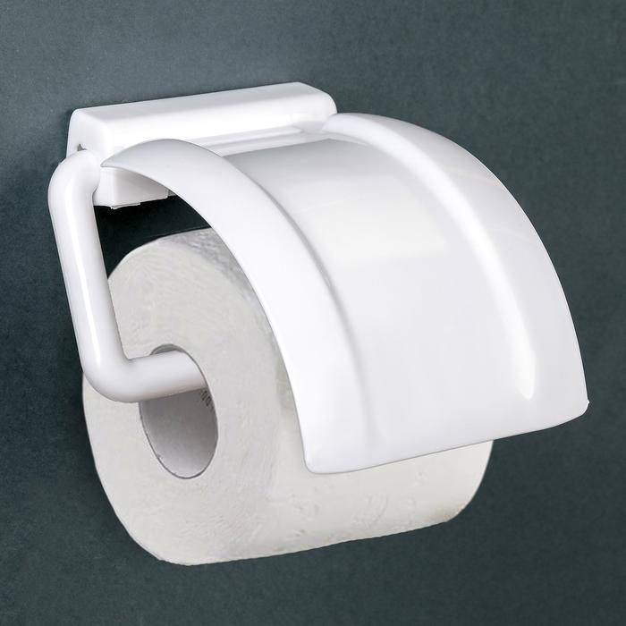 Держатель для туалетной бумаги, цвет белый - фото 1717469
