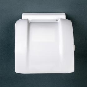 Держатель для туалетной бумаги, цвет белый - фото 1717470