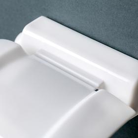 Держатель для туалетной бумаги, цвет белый - фото 1717471