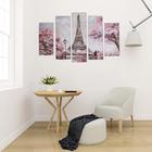 """Модульная картина """"Романтика Парижа"""" (2-23х52; 2-24х70; 1-24х80) 120х80см - фото 942434"""