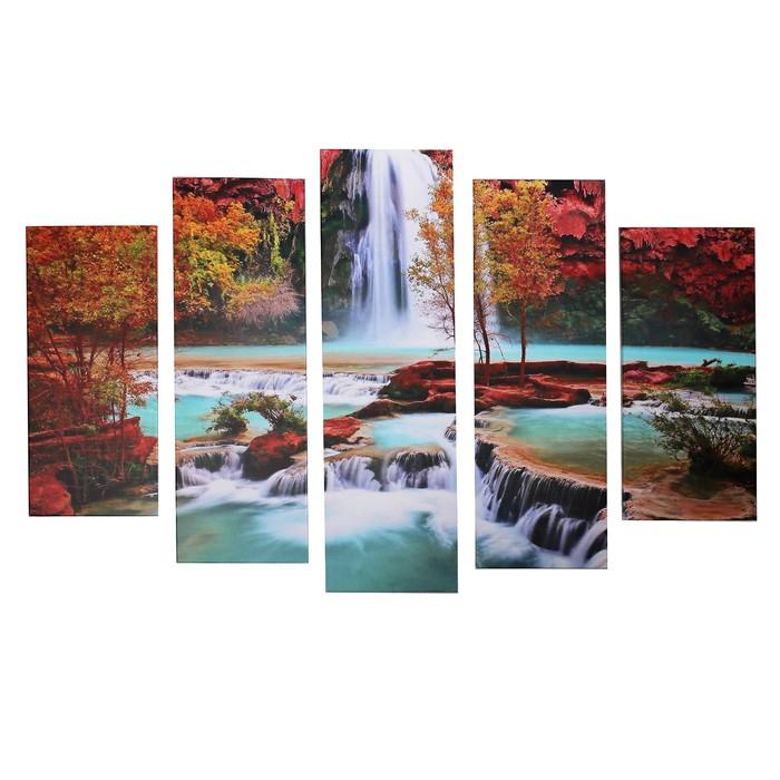 """Модульная картина """"Природная красота"""" (2-23х52; 2-24х70; 1-24х80) 120х80см"""