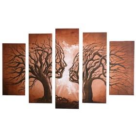 """Модульная картина """"Он и она"""" (2-23х52; 2-24х70; 1-24х80) 120х80см"""
