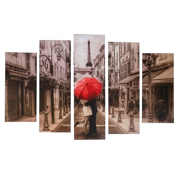 """Модульная картина """"Влюблённые"""" (2-23х52; 2-24х70; 1-24х80) 120х80см"""