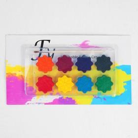 Акварельные карандаши «Снежинки», 8 цветов, кисть