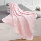 Одеяло детское Крошка Я «Розовые звёзды», 110 × 140 см, жаккард, 100 % хлопок