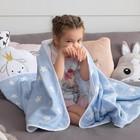 Плед детский Крошка Я «Голубые звёзды» 140х200 - фото 105560116
