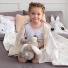 Одеяло детское «Крошка Я» Бежевые звёзды 140×200, жаккард, 100% хлопок - фото 105560118